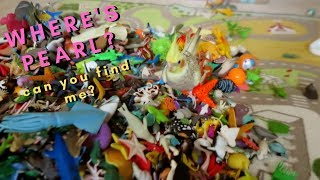 Where's Pearl the Cockatiel? Bird Plays with a Huge Mountain of Kids Toys