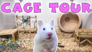 HAMSTER CAGE TOUR 2019 | New Big Home | SYRIAN Hamster Cage | Hamster Room Tour