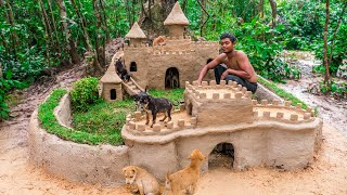 Feed Abandoned Puppies and Build Great Wall around Castle Mud Dog House