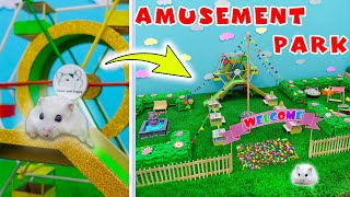 Dwarf Hamsters in the Amusement Park with a Ferris Wheel and Garden Maze ⭐ Come and Enjoy Animals
