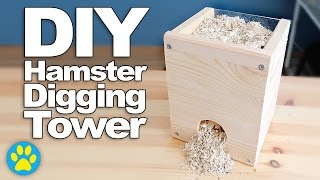 DIY Digging Tower For Hamsters