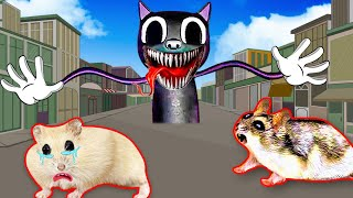 Cartoon Cat vs cute Hamster pets 🐹 Pretend Dad Takes Care Baby from Cartoon Cat Obstacle Course Maze