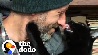 Guy Finds Stray Kitten And Bonds Hard With Him | The Dodo Soulmates