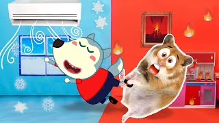 Hot and Cold Challenge with Hamster and Wolfoo – Funny Cartoon by Life Of Pets Hamham
