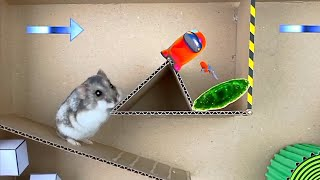 🔴 AMONG US and HAMSTER in Maze with Traps 💀[OBSTACLE COURSE]🔴