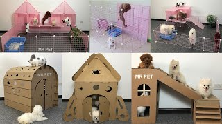 TOP 6 How To Make Dog House For Cute Pomeranian Puppies, Poodle and Kitten   MR PET #45